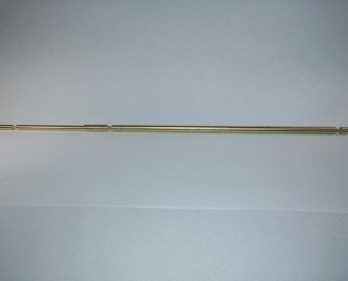 """Brass High Voltage Radio Component: 14.600"""" Long, 0.270"""" Diameter- Swiss Turning by IML"""