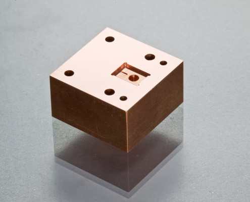 Micro Precision Machining- Micro mold: Aluminum bronze, high surface finish required on mold surface